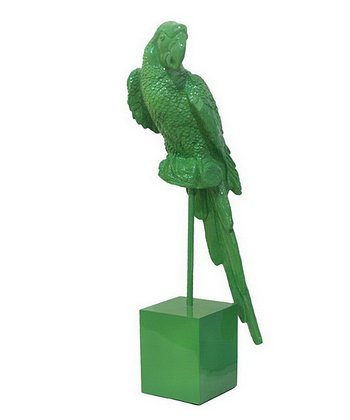 Green Parrot Figurine