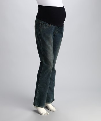 Rinse Bootcut Over-Belly Maternity Jeans