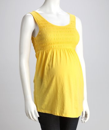 Pineapple Shirred Maternity Tank - Women