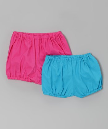 Pink & Turquoise Diaper Cover Set - Infant & Toddler
