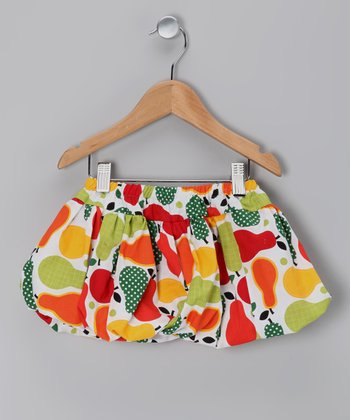 Red Pear Bubble Skirt - Toddler & Girls