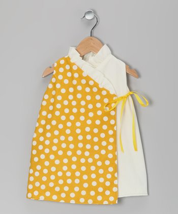 Yellow Polka Dot Wrap Dress - Infant