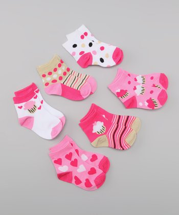 Pink Delicious Cupcakes Socks Set