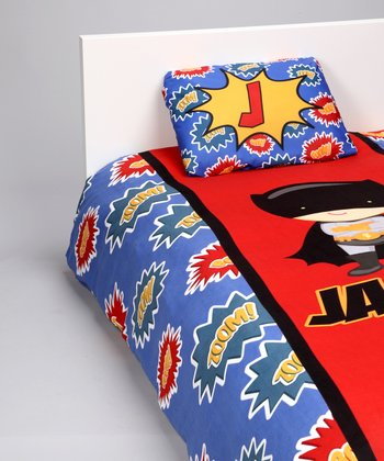 Red & Blue Superhero Personalized Duvet Set