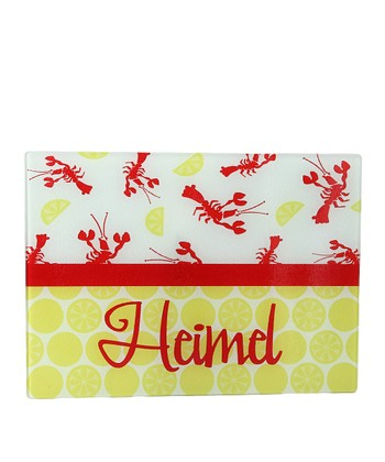 Lobster & Lemon Personalized Cutting Board