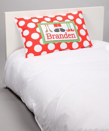Red Holiday Feet Personalized Pillowcase