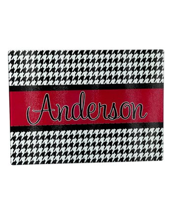 Houndstooth Personalized Cutting Board