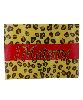 Red Leopard Personalized Cutting Board