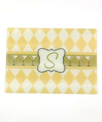 Harlequin Martini Initial Cutting Board