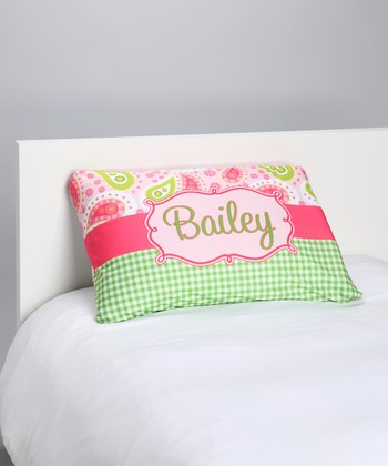 Pink Paisley Personalized Pillowcase