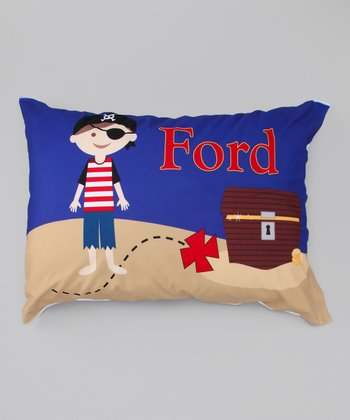Pirate Boy Personalized Pillowcase