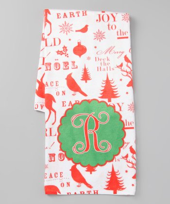 Christmas Words Initial Hand Towel