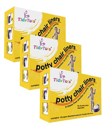 Potty Chair Liners Travel Pack - Set of Three