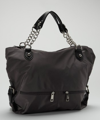 Charcoal & Black Chain Link Tote
