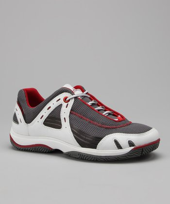 White & Red Formentor Boating Sneaker - Women