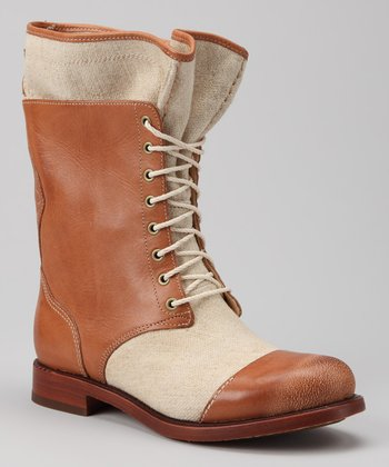 Tan Lucille Fold-Down Boot