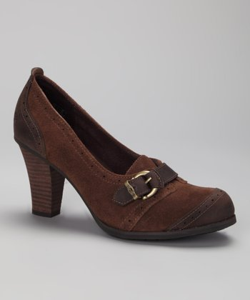 Dark Brown Wingate Loafer Pump