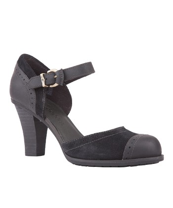 Black Wingate Mary Jane Pump