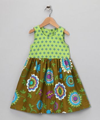 Green Teatime Dress - Toddler & Girls
