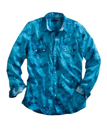 Turquoise Blue Button-Up - Women