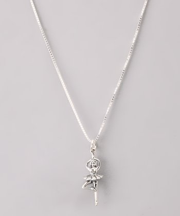 Sterling Silver Ballerina Necklace
