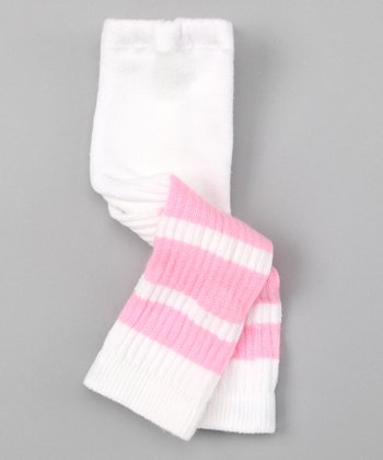 Baby Pink Stripe Tubular Leggings - Infant, Toddler & Girls