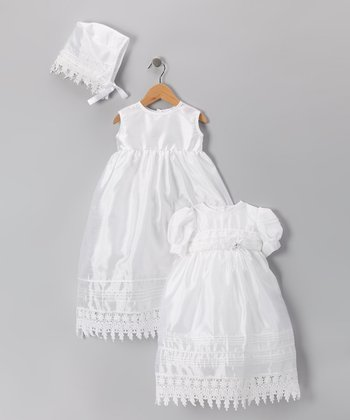 Tip Top White Tiered Empire-Waist Dress - Infant & Toddler