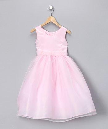Pink Flower A-Line Dress - Toddler & Girls