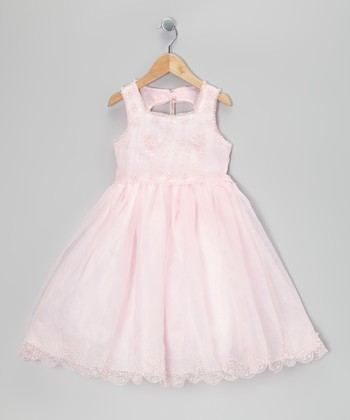 Pink Beaded Babydoll Dress - Infant & Toddler