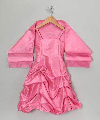 Carnation Pick-Up Dress & Shawl - Toddler