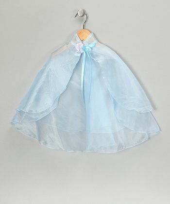 Sky Blue Sheer Cape - Girls
