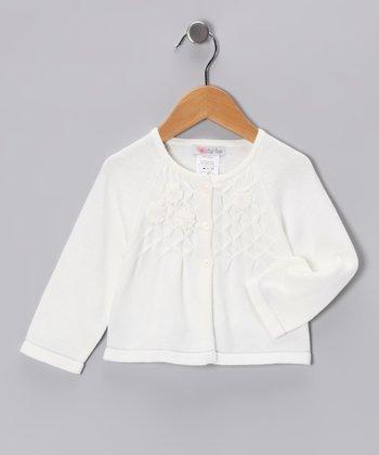 Ivory Flower Cardigan - Infant, Toddler & Girls
