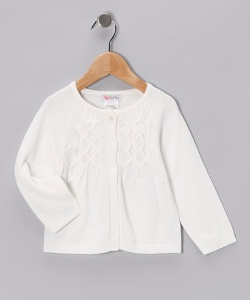 Ivory Beaded Cardigan - Infant, Toddler & Girls