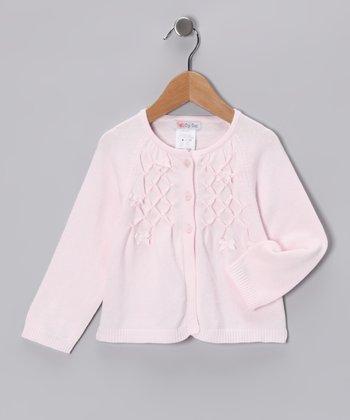 Pink Beaded Cardigan - Infant, Toddler & Girls