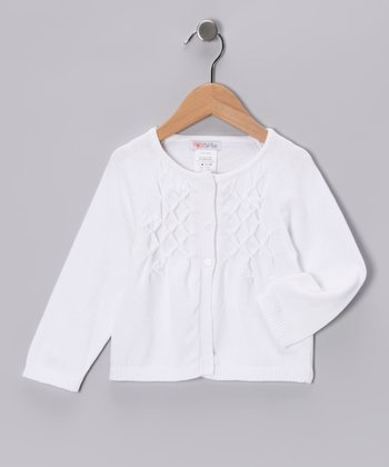 White Beaded Cardigan - Infant, Toddler & Girls