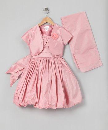Dusty Rose Bubble Dress Set - Infant, Toddler & Girls