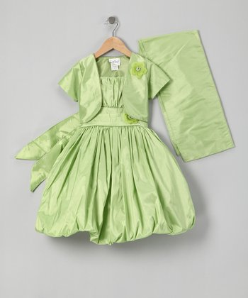 Lime Bubble Dress Set - Infant, Toddler & Girls