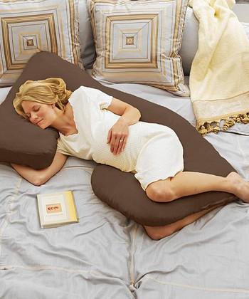 Today's Collection Espresso Cozy Cuddler Pregnancy Pillow