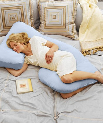 Today's Collection Sky Blue Cozy Cuddler Pregnancy Pillow