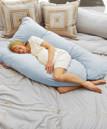 Today's Collection Sky Blue Cozy Comfort Pregnancy Pillow