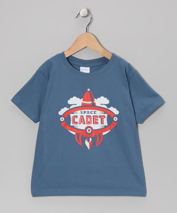 Indigo & Red 'Space Cadet' Tee - Toddler