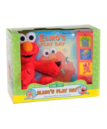 Elmo's Play Day Board Book & Plush Toy
