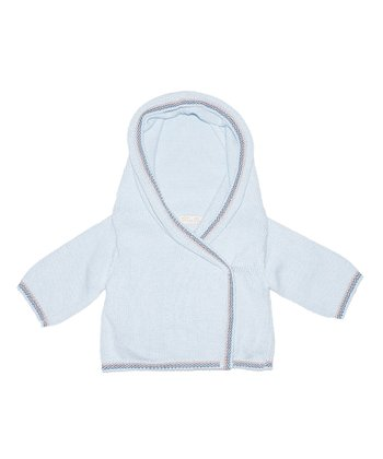 Pale Blue Wrap Hoodie - Infant & Toddler
