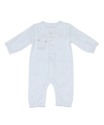 Pale Blue Boys Pintuck Playsuit - Infant