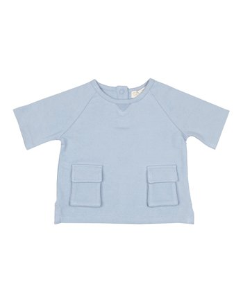 Periwinkle Short-Sleeve Pocket Tee - Infant