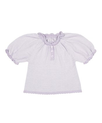 Lavender & Silver Stripe Top - Infant & Toddler