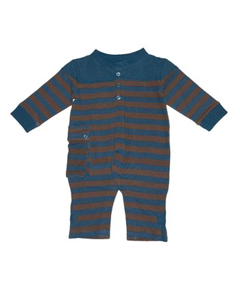 Blue Berry Alpine Stripe Playsuit - Infant