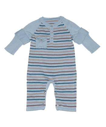Sky Blue Stripe Lundy Playsuit - Infant