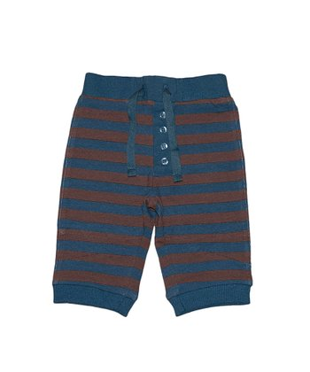 Blue & Chocolate Stripe Alpine Pants - Infant