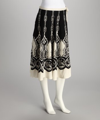 White & Black Chain Link Skirt